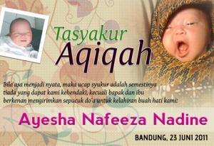 contoh undangan aqiqah anak JalanDakwah.info